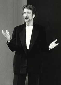 """1985 - Alan Rickman as Jaques in """"As You Like it"""" at the Barbican."""