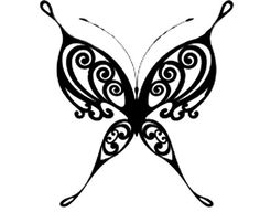 Tribal Butterfly Tattoo style for Becky?