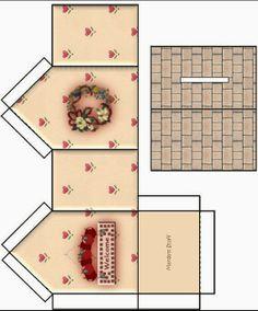 CALLY'S  DESIGN: Caixas em formato de Casinha  para Imprimir