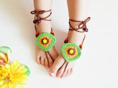 Hey, I found this really awesome Etsy listing at https://www.etsy.com/listing/529825737/crochet-barefoot-sandals-beach-yoga