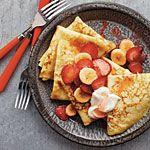 Strawberry-Banana Crepes Recipe | MyRecipes.com