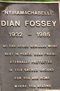 Dian Fossey's Gravemarker