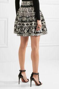 Alexander McQueen - Jacquard-knit Mini Skirt - Black -