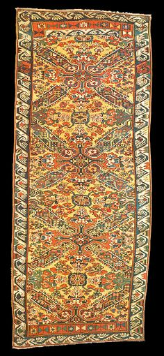 Third quarter 19th century Seychour long rug, Northern Kuba Region, Azerbaijan