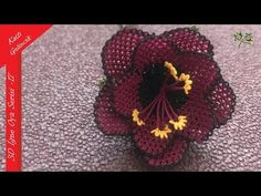 "Needle Embroidered Series – 17 ""Folded Poppy"" Making - Tatting Ideen 2019 Tatting, Needle Lace, Ginger Ale, Youtube, Poppies, Needlework, Crochet Earrings, Halloween, Sewing"