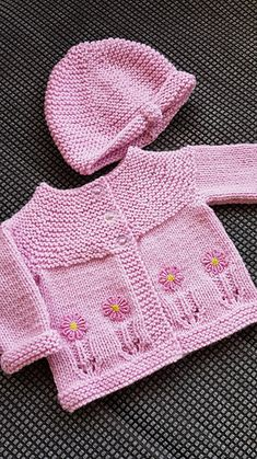 Ravelry: Fleur Baby Cardigan Jacket pattern by marianna mel Baby Knitting Free, Baby Cardigan Knitting Pattern Free, Baby Booties Free Pattern, Kids Knitting Patterns, Baby Sweater Patterns, Knitted Baby Cardigan, Knit Baby Sweaters, Knitted Baby Clothes, Knitting Hats