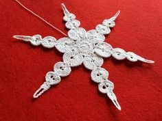 Simple Crochet Snowflake Tutorial 30 Decoration for Christmas Ttee - YouTube