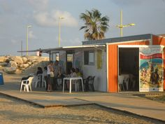 Beachfront Bookstores - this one is in Spain but I would love to move to the beach in Texas and open a bookstore!