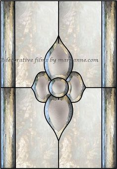 Design 2 Faux Privacy Stained Glass Clings and Window Films