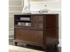 The Utility File is crafted from hardwood solids and cherry veneers.