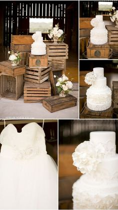 Love the Cake Display. Perfect for a barn wedding. Chic Wedding, Wedding Blog, Fall Wedding, Wedding Events, Our Wedding, Dream Wedding, Wedding Stuff, Wedding Pins, Anthropologie Wedding