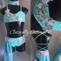 Mint and Pink Lyrical Dance Costume by ClassicallyCostumed on Etsy https://www.etsy.com/listing/489135770/mint-and-pink-lyrical-dance-costume