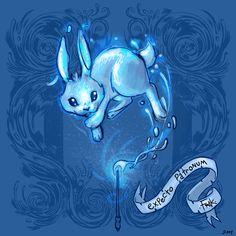 Hare/Rabbit Patronus by Frankie Franco III    http://frakfraco.blogspot.com/2008/03/patronus.html