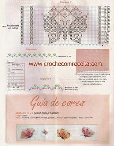 CROCHE COM RECEITA: A revoada de borboletas em crochê filé