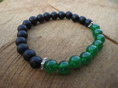 ST Patrick's Day Bracelet Stone Bracelet Matte by #BohemianChicbead SyPatricksDay #bracelet #jewelry #shoppingqueen #etsy