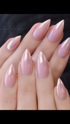 21 Fantabulous Pointed Nail Designs to Finish Your Fall Look ❤ Cute and Stylish Nude Stiletto Nails picture 2 ❤ Pointed nail designs are still on the edge of Classy Almond Nails, Almond Shape Nails, Fall Almond Nails, Lace Nails, Pink Nails, Pointed Nail Designs, Hair And Nails, My Nails, Lace Nail Design