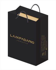 Layout sacola Lampadario Concetto.