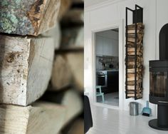 Wood Storage - vertical wood storage would be great in the garage for easy wood availability in the winter months.