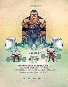 leg exercise: hexbar deadlifts - brobacca