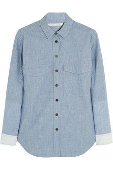 Victoria Beckham Denim Hemd aus Baumwollchambray | NET-A-PORTER