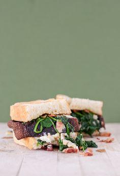 Spinach Bacon & Goat Cheese Portobello Sandwich 3