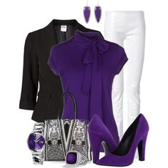 Office in Purple, created by justbeccuz on Polyvore