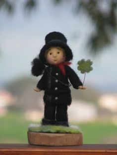 Needle felted little chimney sweep bringing Good by Made4uByMagic, $69.00