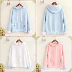 "Color:blue,pink,white, Size:one size. Length:57cm/22.23"". Bust:108cm/42.12"". Sleeve length:47cm/18.33"". Shoulder:58cm/22.62"". Fabric material:cotton. Tips: *Please double check above size and consider"