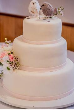 Love birds cake topper custom made wedding decor. by BlossomHill