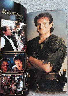Robin Williams as Peter Pan in Hook Promo Book, 1991