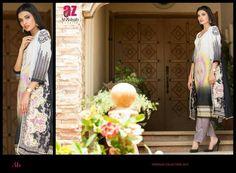 GL-AZ04B 3 Piece lawn suit. Top - Embroidered & printed lawn Pants - Plain lawn fabric Dupatta - Printed Chiffon