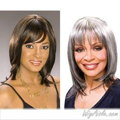 Foxy Silver - SIENNA - Synthetic Mono Full Wig