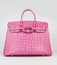THE HOLY GRAIL of purses: The PINK HERMES BIRKIN!!!!  The reason I'm typing in all caps is because, Yes, I am SCREAMING!  It's only $50000 plus!