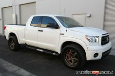 Project Toyota Tundra Part Installing TRD's big brakes with Volk Wheels By Mike Kojima When we last left off we had just gotten our TRD big brake… 2008 Toyota Tundra, Toyota Tundra Parts, Lifted Tundra, Toyota Trucks, New Trucks, Dream Cars, 4x4, Project Ideas, Pickup Trucks