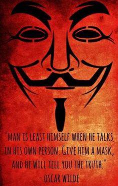 Genial V For Vendetta Meets Oscar Wilde
