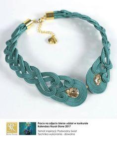 . More Boho Jewelry, Bridal Jewelry, Beaded Jewelry, Jewelery, Handmade Jewelry, Jewelry Design, Soutache Pendant, Soutache Necklace, Tassel Earrings