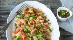 Laks med «spicy» ingefær- og limesaus