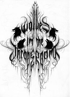 Wolves in the Throne Room is a bit obscure, the topography used in their logo is brilliant.