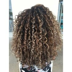 Looking for a way to enhance your curly-haired client's beautiful mane? Someti… Looking for a way to enhance your curly-haired client's beautiful mane? Sometimes it can be as simple as adding a touch of hand-painted balayage as proven by Hannah Snyder ( … Curly Hair Styles, Ombre Curly Hair, Curly Hair With Bangs, Colored Curly Hair, Short Curly Hair, Dyed Hair, Natural Hair Styles, Curly Balayage Hair, Medium Curly