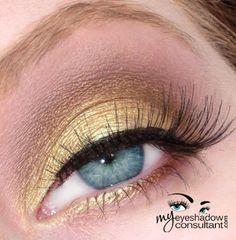 MAC eyeshadows used:  Gorgeous Gold (on lid, below crease) Bronze (crease) Bisque (blend)