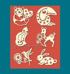 Scroll Saw Patterns :: Holidays Christmas Cats, Christmas Ornaments, Wood Cut, Cut Animals, Scroll Saw Patterns, Wood Ornaments, Kirigami, Pyrography, Shape Patterns