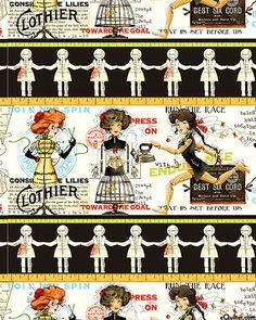 J. Wecker Frisch - She Who Sews - Handmaids Stripe - Quilt Fabrics from www.eQuilter.com