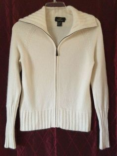 Underarm to underarm Shoulder to hem Sleeve inseam Excellent condition. Cashmere Cardigan, Cashmere Sweaters, Sweater Cardigan, Long Sleeve Sweater, Zip, Cream, Sleeves, Dresses, Fashion