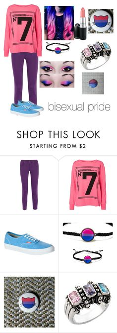 """""""bisexual pride"""" by bailey-w ❤ liked on Polyvore featuring STELLA McCARTNEY, Vero Moda, Vans, MAC Cosmetics, bisexual and bipride"""