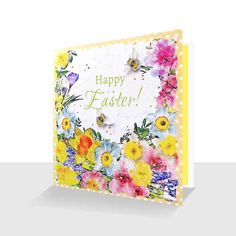 Your place to buy and sell all things handmade Easter Flowers, Spring Flowers, 50th Birthday Cards, Bee Cards, Watercolor Flowers, Watercolour, Daffodils, White Envelopes, Happy Easter