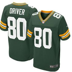 bc973f2aed9 All Size Free Shipping Elite Men's Nike Green Bay Packers #80 Donald Driver  Team Color