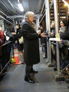 "Alan Rickman signing autographs after a performance of ""Seminar"" in NYC | Nov 2011-April 1, 2012"