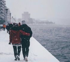 """You say """"singing in the rain"""". We say """"dancing in the snow"""" Thessaloniki, ❤… Sweet Morning Images, Winter Gowns, I Love Snow, Urban Nature, Singing In The Rain, Winter's Tale, Paradise On Earth, Deep Forest, Nature Images"""