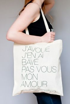 Sac La Javanaise, sac Serge Gainsbourg, sac toile tissu, merchandising musique