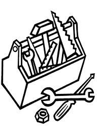 tool coloring pages for kids CARPENTER coloring pages Color each